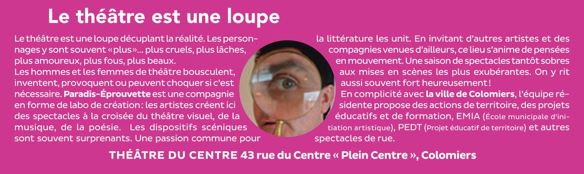 Théâtre du centre, Colomiers   Paradis-Éprouvette, compagnie résidente 0d190dedd543